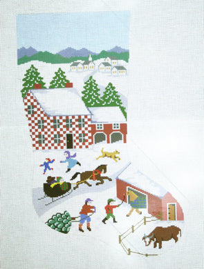Folk Art Christmas Stocking