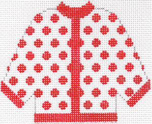 Red Polka Dot Cardigan Ornament