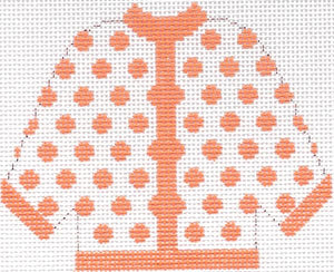 Sherbet Polka Dot Cardigan Ornament