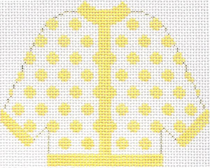 Yellow Polka Dot Cardigan Ornament
