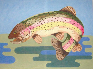 Leaping Trout Pillow