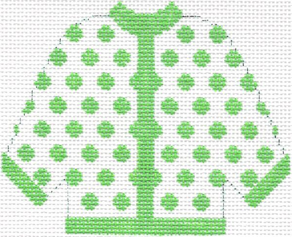 Lime Green Polka Dot Cardigan Ornament