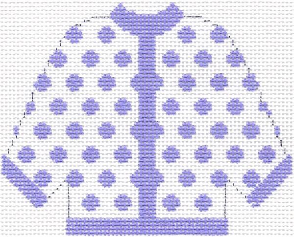 Lilac Polka Dot Cardigan Ornament