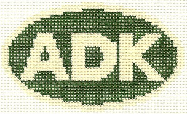 ADK Green Oval Ornament