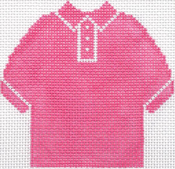 Hot Pink Polo Shirt Ornament