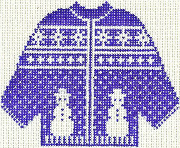 Blue Snowman Sweater Ornament