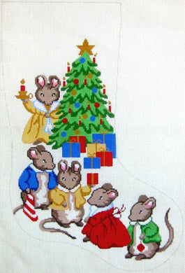 Mouse Family Christmas Stocking