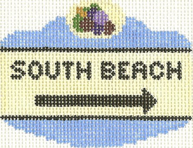 South Beach Sign Ornament