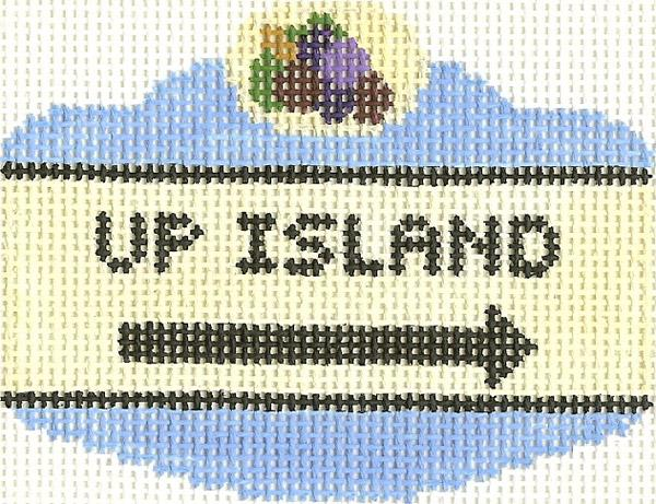 Up Island Sign Ornament
