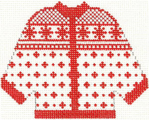 Red Alpine Cardigan Ornament