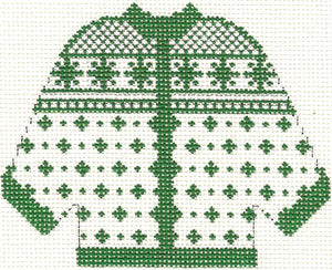 Green Alpine Cardigan Ornament