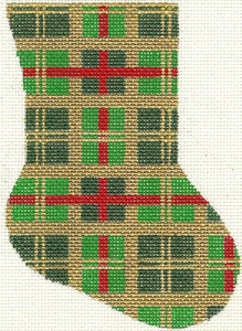 Christmas Plaid Minisock