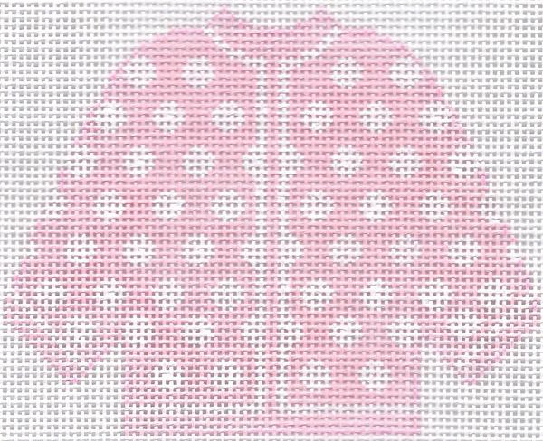 Pink w/ White Polka Dots Cardigan Ornament