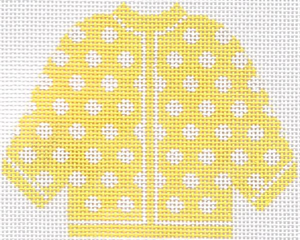 Yellow w/ White Polka Dots Cardigan Ornament