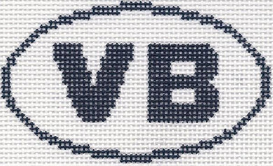 VB (Virginia Beach, VA/Vero Beach, FL) Oval Ornament