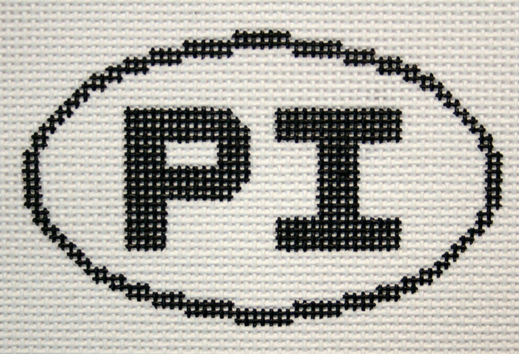 PI (Pawleys Island, SC) Oval Ornament
