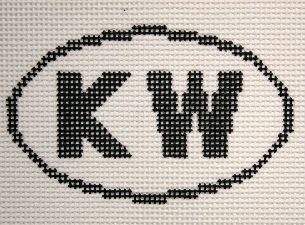 KW (Key West, FL) Oval Ornament