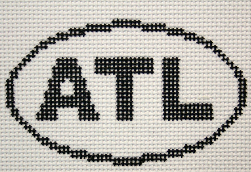 ATL (Atlanta, GA) Oval Ornament