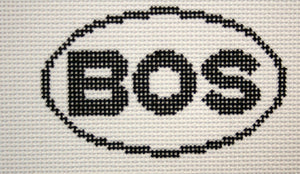 BOS (Boston, MA) Oval Ornament