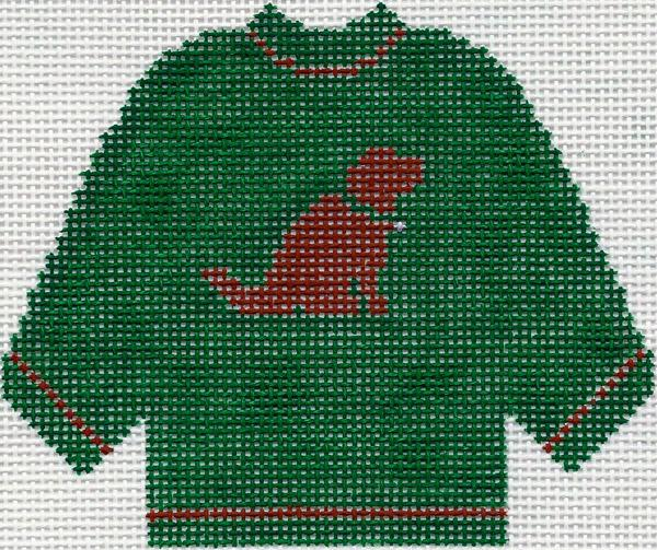Green Sweater w/ Chocolate Lab Ornament