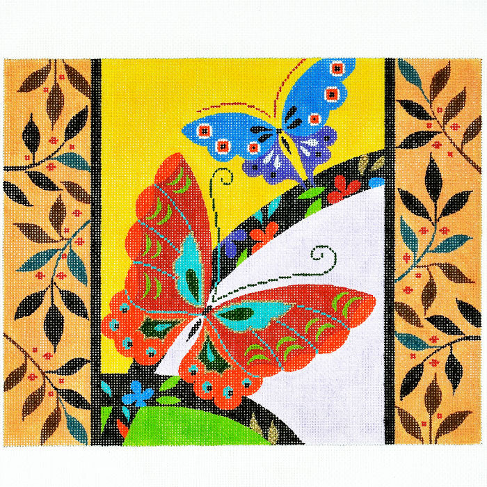 Butterflies with Border