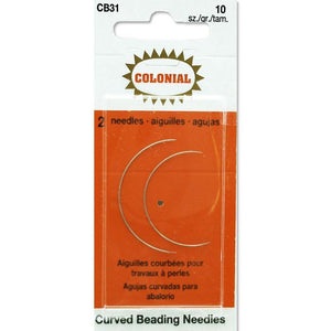 colonial curved beading needles