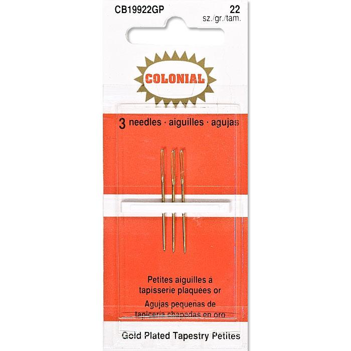 colonial gold tapestry petites needles
