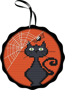 Black Cat Spooky Ornament