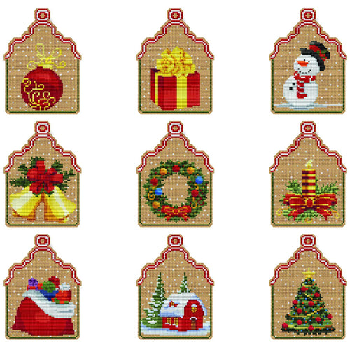 9 Christmas Ornaments Kit