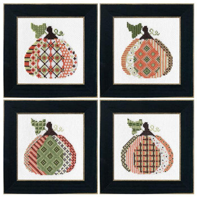 4 Patterned Pumpkins