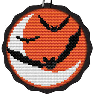 Batty Moon Spooky Ornament