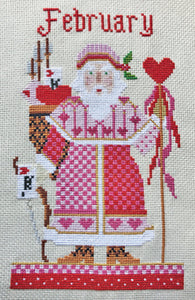 February Santa Cross Stitch Kit