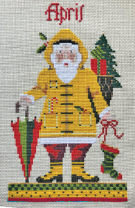 April Santa Cross Stitch Kit