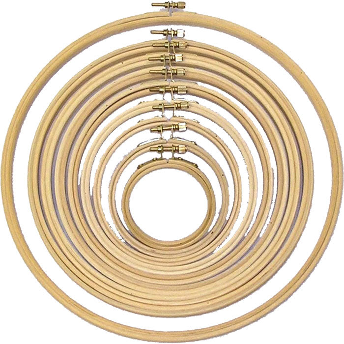 Round Edge Wooden Hoop