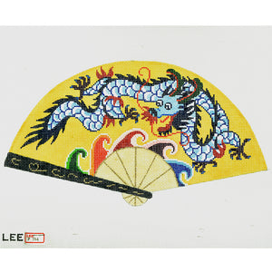 Dragon On Yellow Fan