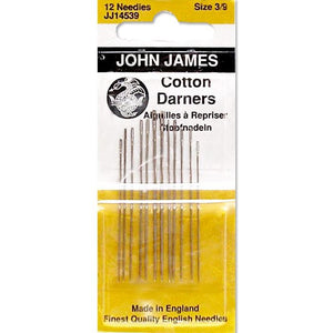 Colonial Needle 12 Count John James Cotton Darners Needles Size 9