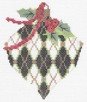 Jet Harlequin Heart Stitch Guide
