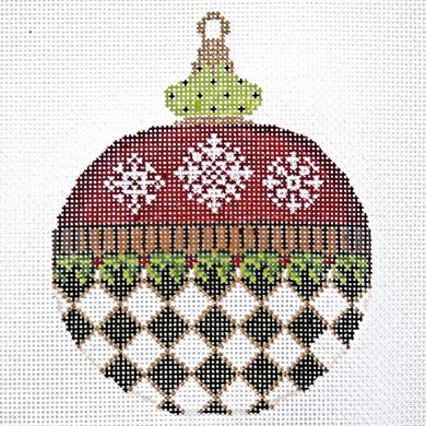 Snowflakes & Diamonds Ornament
