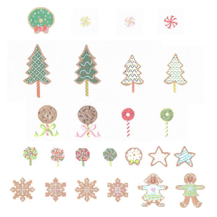 Set of All 25 Advent Ornaments