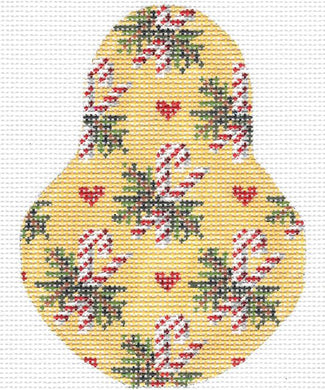 Candy Canes on Golden Bosc Stitch Guide