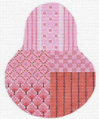 Sassy Pink Sampler Red Stitch Guide