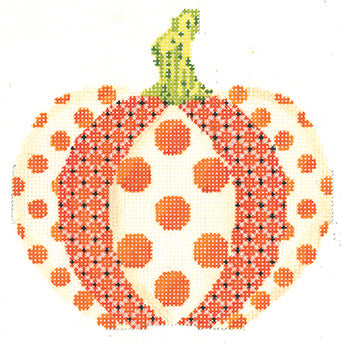 Polka Dot Patchwork Pumpkin