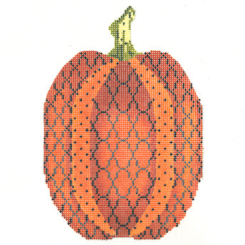 Tall Orange Trellis Pumpkin