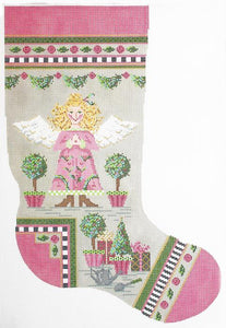 Topiary Angel Stocking