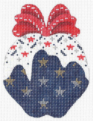 Navy Stars-n-Sprinkles Apple