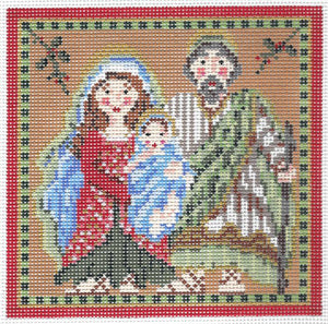 Holy Christmas Family Square