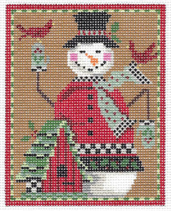 Snowman & Bird Chalet Stitch Guide