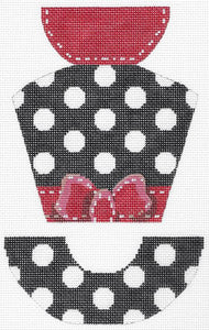 Polka Dot and Grosgrain Hat