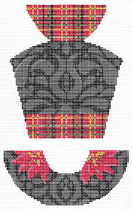 Plaid Taffeta & Black Velvet Hat Stitch Guide