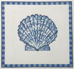 Scallop Shell in Ocean Blue